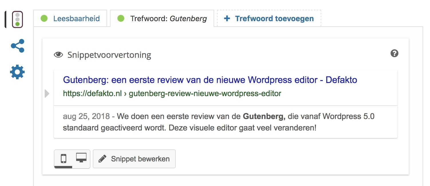 Metatags in Yoast SEO plugin voor WordPress